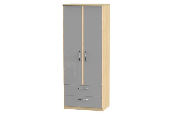 Ha Long Bay 2ft6in 2 Drawer Double Wardrobe