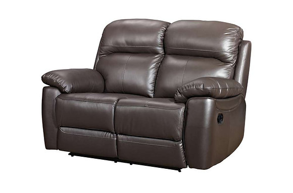 Aston Leather 2 Seater Manual Recliner Sofa