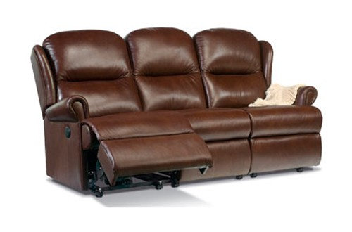 Sherborne Malvern Leather Standard 3 Seater Power Recliner Sofa