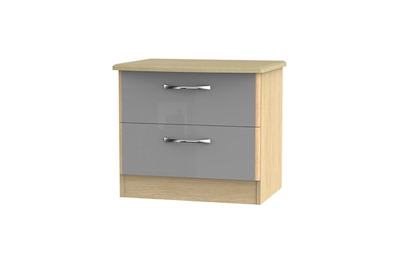 Ha Long Bay 2 Drawer Wide Bedside