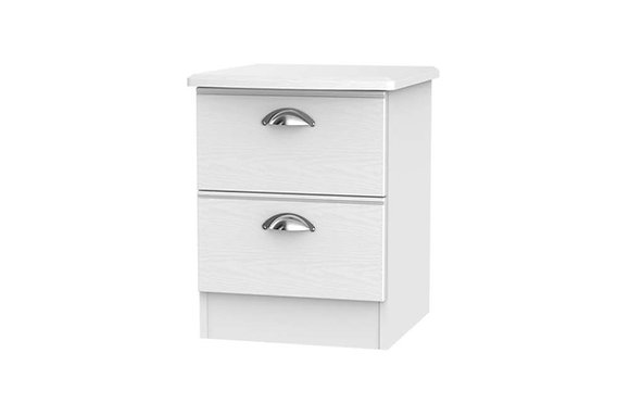 Victoria 2 Drawer Bedside