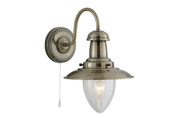 Searchlight Lighting Fisherman Antique Brass Wall Light