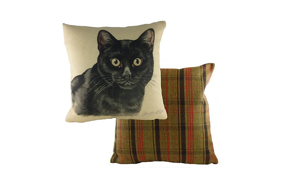 Waggydogz Black Cat Cushion