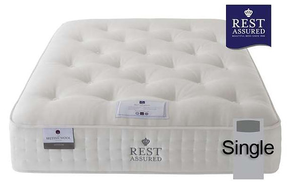 Rest Assured British Wool Medium Comfort Single Mattress