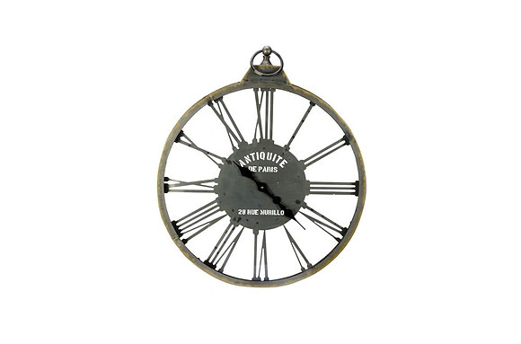 Looking Through Time Wall Clock