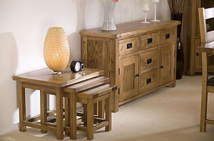 Calgary Living and Dining Room Furniture - Sideboard and Nest of Tables