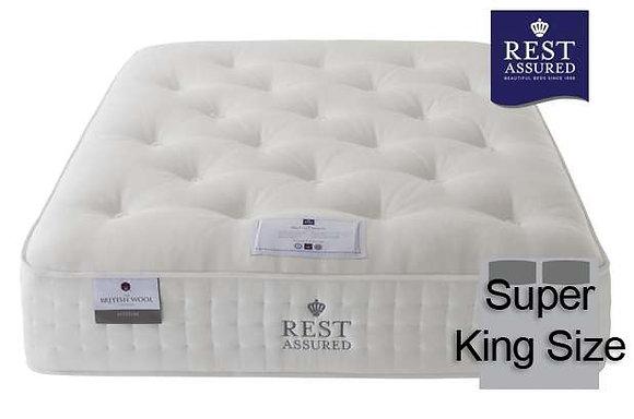 Rest Assured British Wool Medium Comfort Super King Size Mattress
