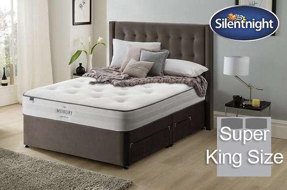 Silentnight Pittoni Mirapocket Super King Size Divan Bed with Memory Foam
