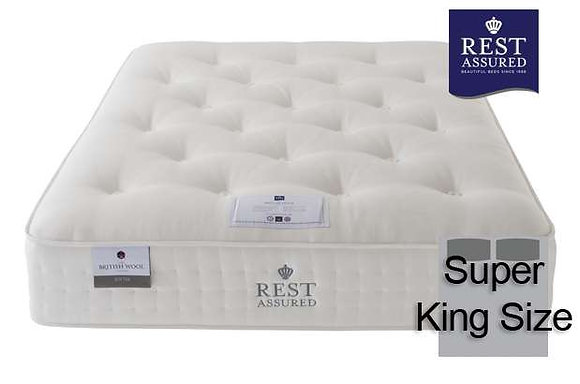 Rest Assured British Wool Softer Comfort Super King Size Mattress