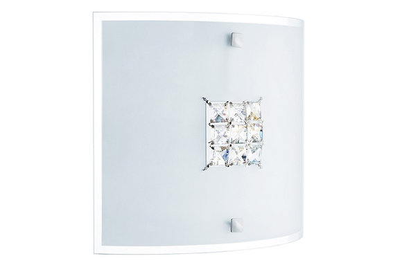 Searchlight Lighting Quadrex Wall Light with Crystal Inner