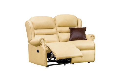 Sherborne Ashford Leather Small 2 Seater Power Recliner Sofa