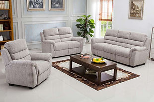 Dartford 3 Seater, 2 Seater & Chair In Natural Fabric | Styleforce Home & Furniture Store | South Wales