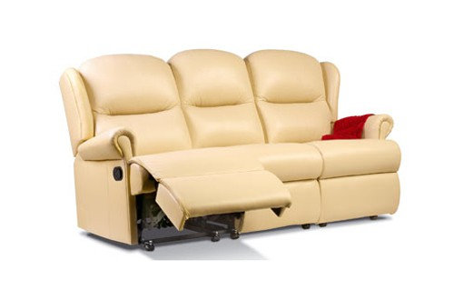 Sherborne Malvern Leather Small 3 Seater Manual Recliner Sofa