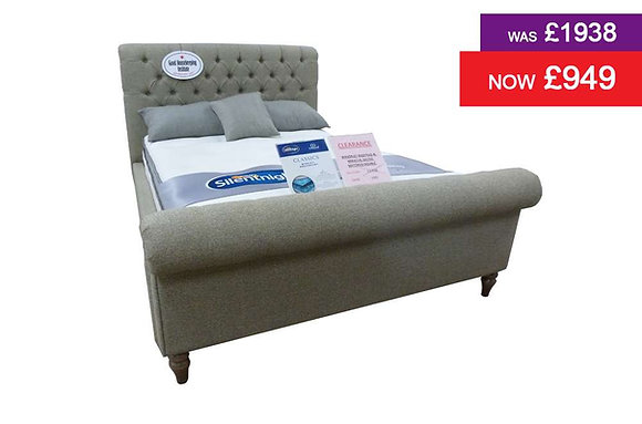 Waverley Bedstead & Silentnight 135cm Miracoil Geltex Mattress