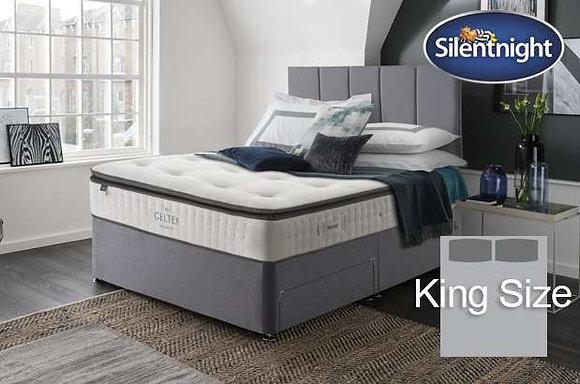 Silentnight Wordsworth Mirapocket King Size Divan Bed with Geltex