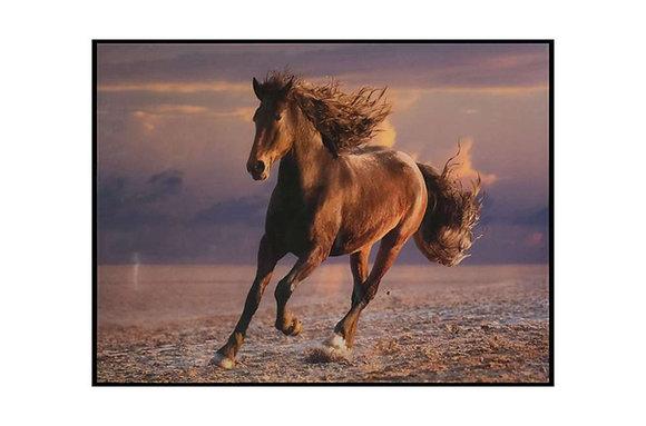 Wild Horse Glass Wall Art