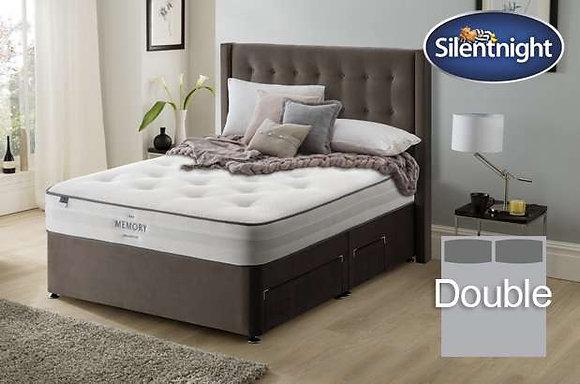 Silentnight Pittoni Mirapocket Double Divan Bed with Memory Foam