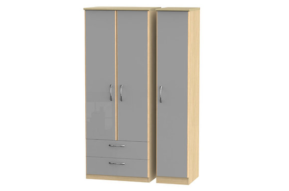 Ha Long Bay 2 Large Drawer Triple Wardrobe