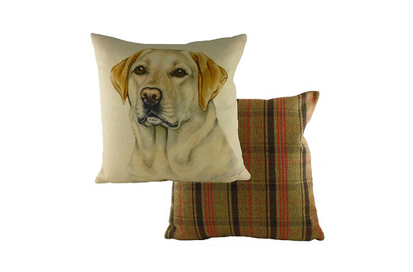 Waggydogz Yellow Labrador Cushion