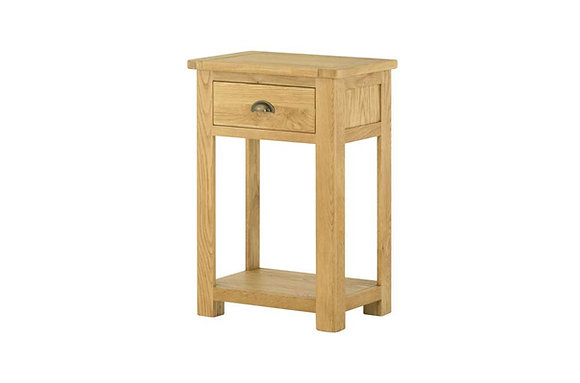 Portland Oak 1 Drawer Console Table