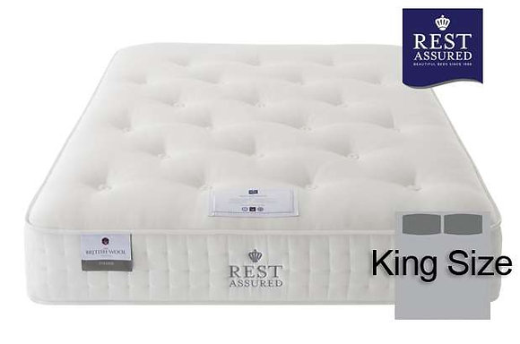 Rest Assured British Wool Firmer Comfort King Size Mattress