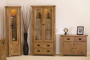 Calgary Living and Dining Room Furniture - Sideboard, Display Cabinet and Corner Display Unit