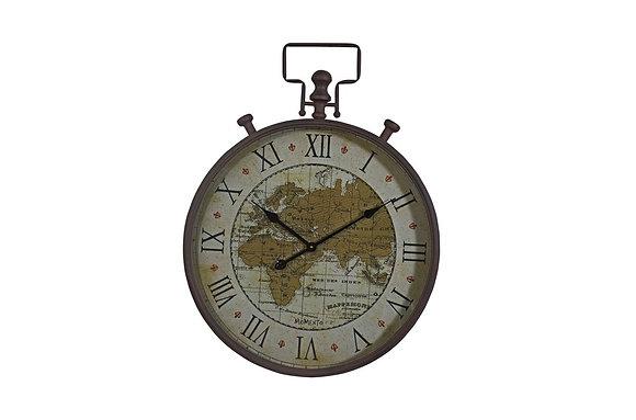 Map Script Design Wall Clock