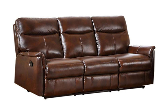 Graham Leather 3 Seater Power Recliner Sofa