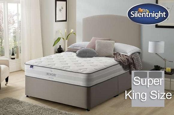 Silentnight Ruscha Miracoil Super King Size Divan Bed with Memory Foam