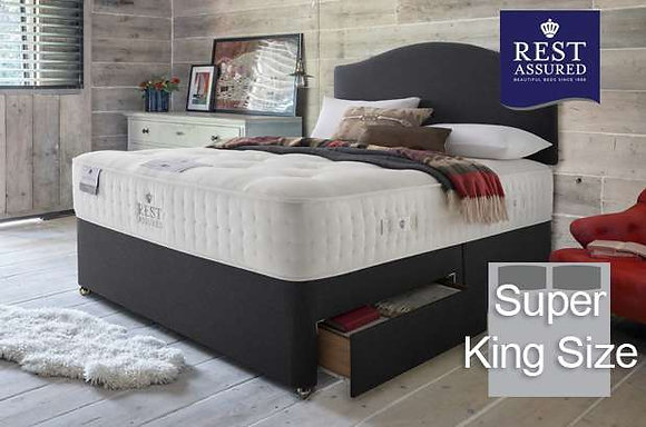 Rest Assured British Wool Firmer Comfort Super King Size Divan
