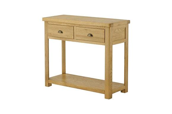 Portland Oak 2 Drawer Console Table