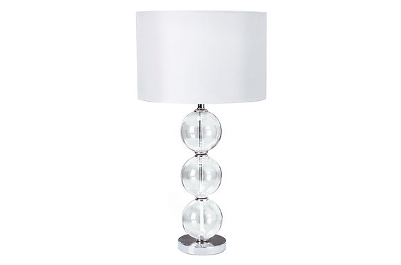 Searching Lighting Chrome Table Lamp with Glass Balls