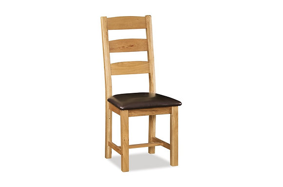 Brecon Slatted Chair with Wooden Seat