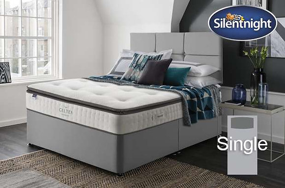 Silentnight Elson Miracoil Single Divan Bed with Geltex