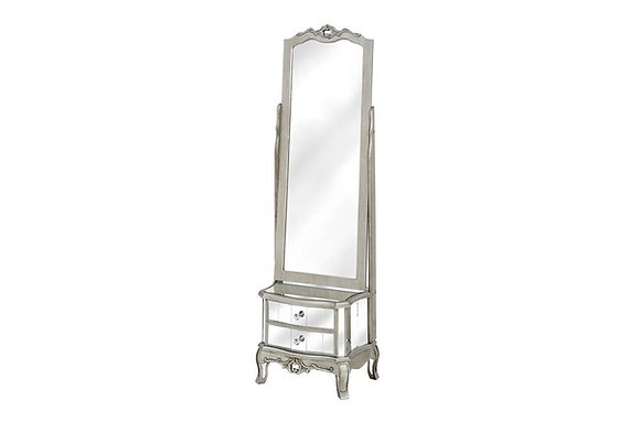 Argente Cheval Mirror With Two Drawers