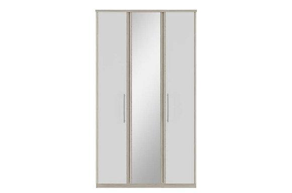 Kingstown Azure Tall 3 Door Wardrobe with Mirror
