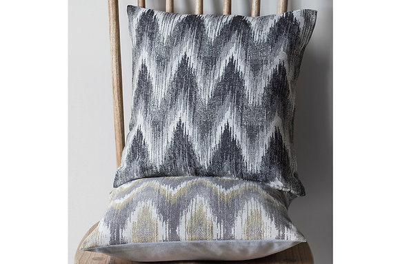 Kalsi Zig Zag Cushion Chartreuse & Grey