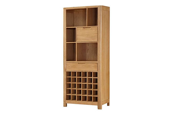 Heartwood Tall Display Cabinet with Wine Rack
