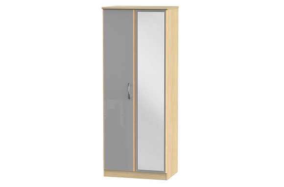 Ha Long Bay 2ft6in Double Wardrobe with Mirror