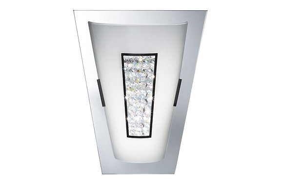 Searchlight Lighting Chrome 16 LED Wall Light with Crystal Inner
