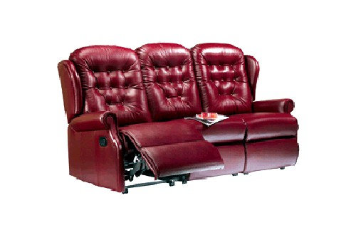 Sherborne Lynton Leather 3 Seater Manual Recliner Sofa