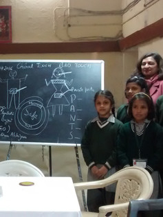Samadhan Abhiyan workshop girls school D