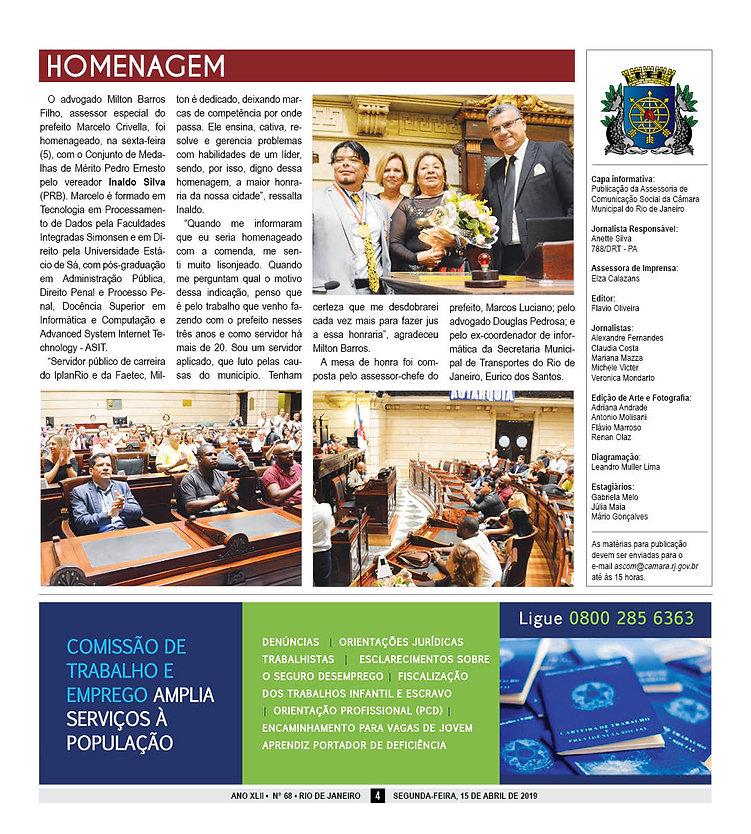 Jornal da Camara de Vereadores do Rio de Janeiro