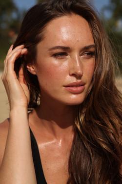 Model closeup photoshoot