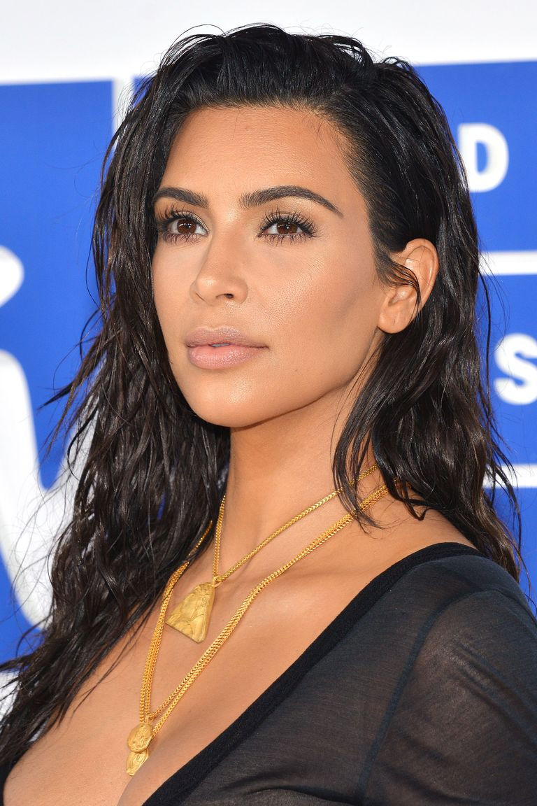 Kim Kardashian wearing nude lipstick