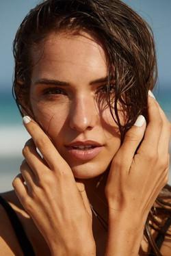 Model Kimberley close up makeup shot