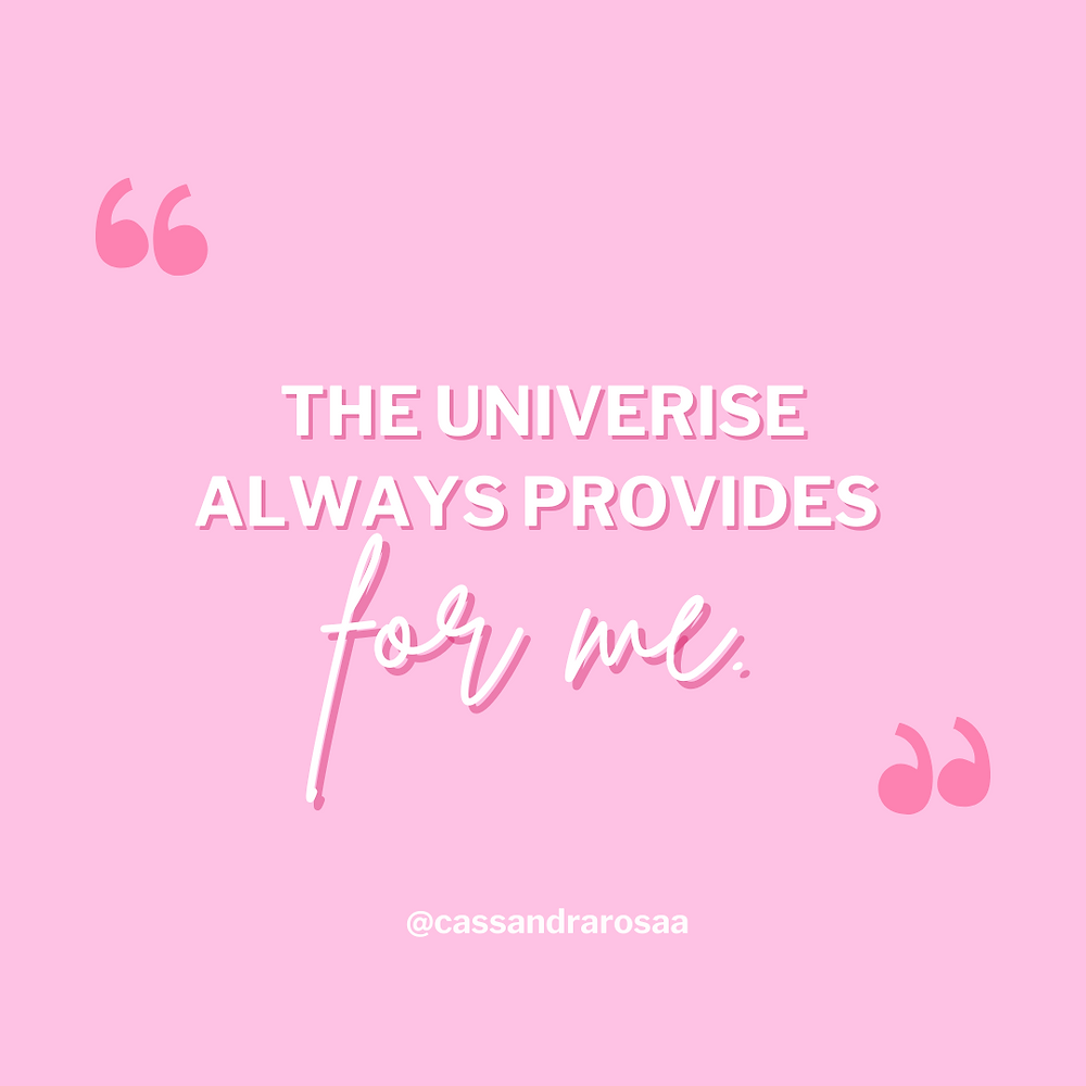 The power of affirmations - positive affirmations, the universe always provides for me