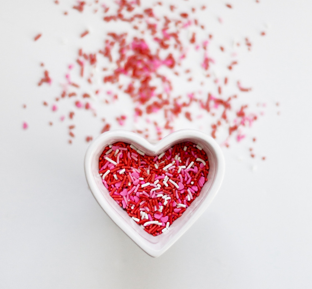 Manifest Love | heart made out of sprinkles