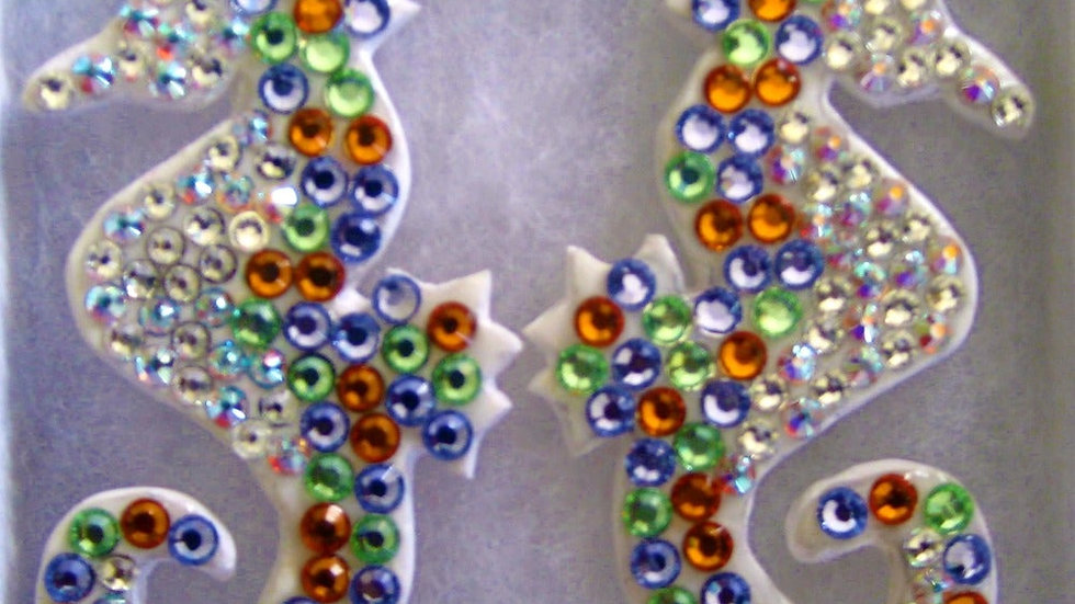 MOOi Swarovski crystal seahorse earrings