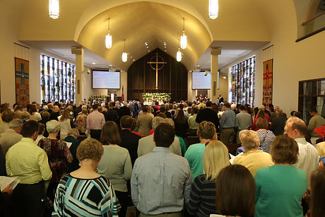 People Worshipping at St. Lucas UCC